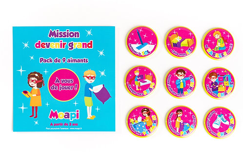 Pack Mission devenir grand - 9 aimants