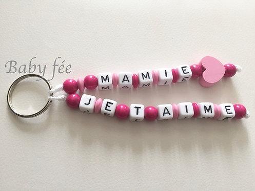 Porte-clefs mamie je t'aime