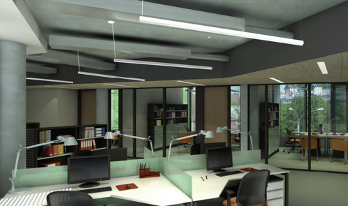 Architectural Fluorescent And HID, Indirect And Direct Linear Lighting