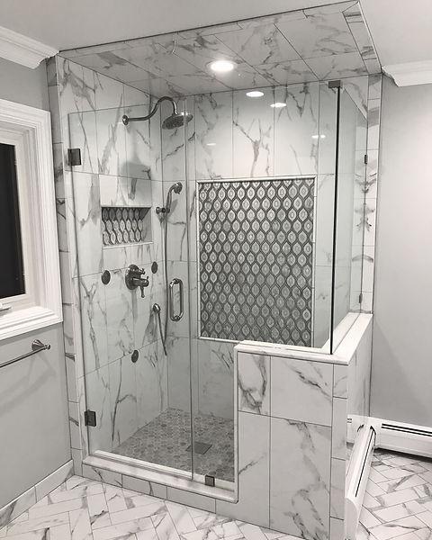 Tiled Shower Master Bath