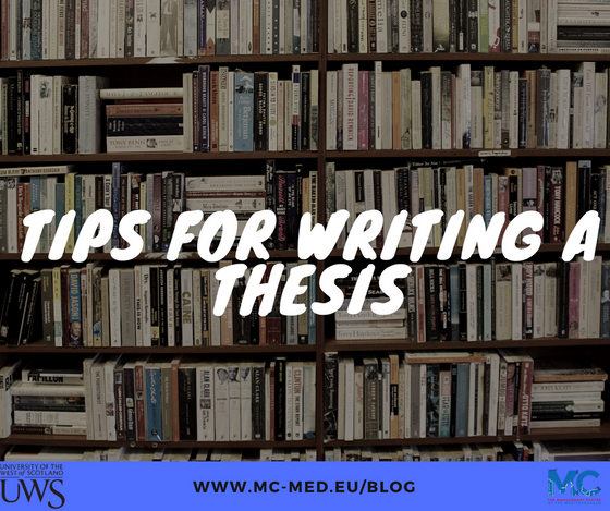 Tips for Writing a Thesis