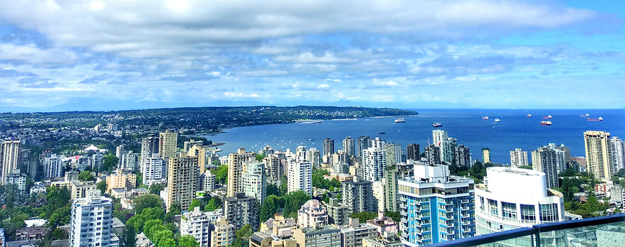 English bay view from Trump tower Vancouver