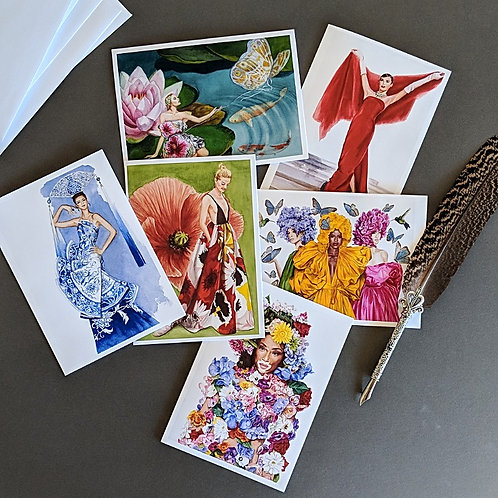 Fashion card set