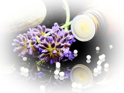 Globuli und Lavendel