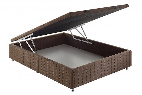 Box Baú Casal 138x188cm com Pistão a Gás