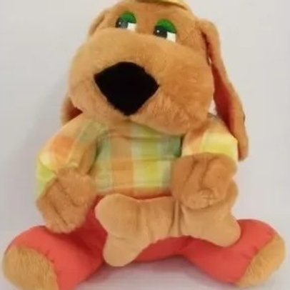Boneco Cachorro de Pelúcia Infantil 30cm