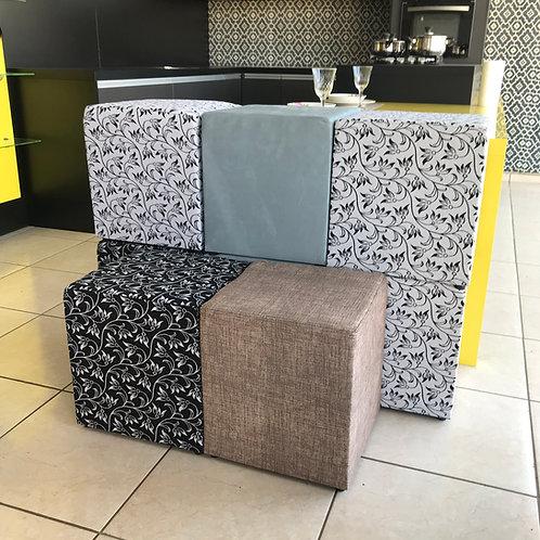 Puff Decorativo para Sala 45x45 de Largura