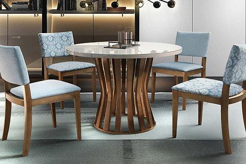 Sala de Jantar Redonda 1,20m com 4 cadeiras