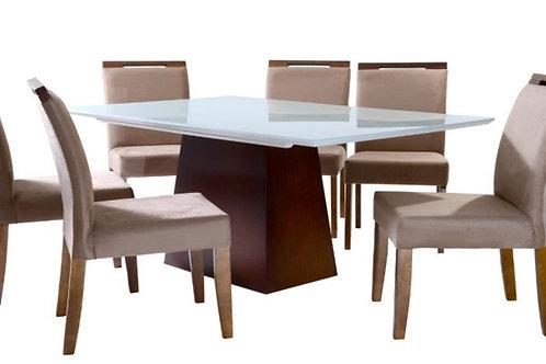 Sala de Jantar 180x100 com 6 cadeiras