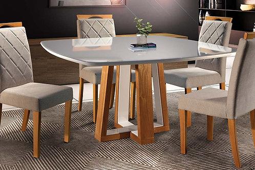 Sala de Jantar 140x90cm com 4 cadeiras