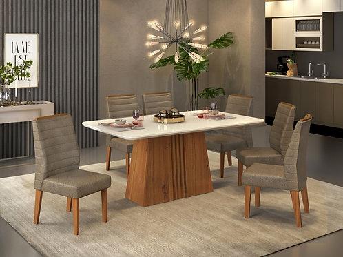 Sala de Jantar 170x90cm com 6 cadeiras