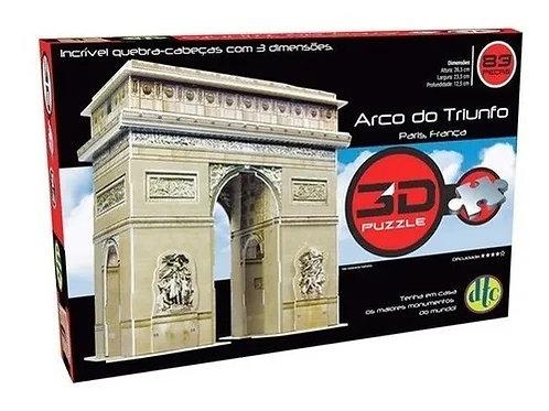 Quebra Cabeça 3D Puzzle Arco Do Triunfo 83 Peças - DTC