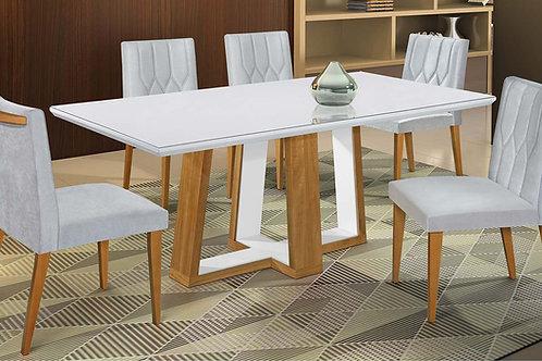 Sala de Jantar 180x90cm com 6 cadeiras