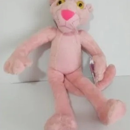 Boneco Pelúcia Pantera Cor De Rosa 50cm