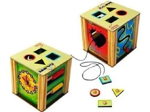 Cubo Multiatividade - Brinquedo Educativo De Madeira