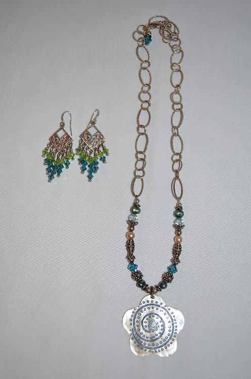 Flower Swarovski Necklace Set