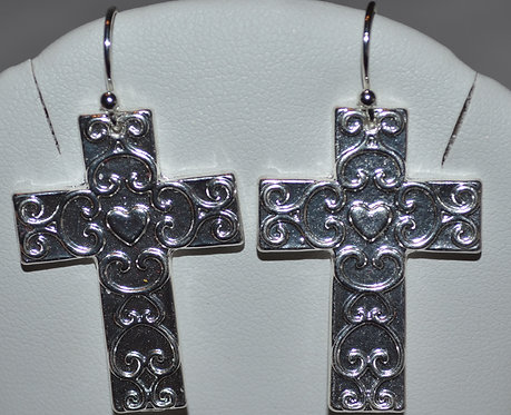 Elly Preston Cross Medallion Earrings