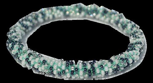 Pewter Multi Colored Bead Bracelet