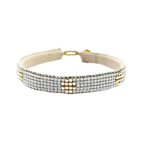 Fine Bracelet Beads The Circle Soft Grey