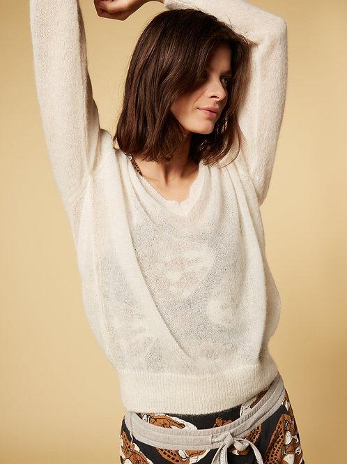 V-Neck Sweater Alpaca