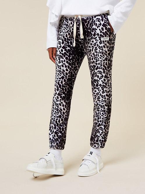 Cropped Jogger Leopard Velvet