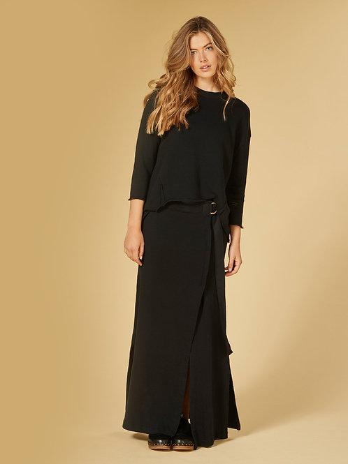 Belted Long Skirt