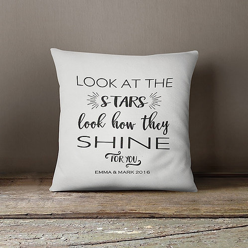 'Look at the Stars' Cushion - CREAM