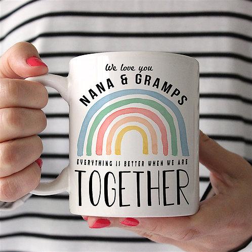 Rainbow 'TOGETHER' Personalised Mug