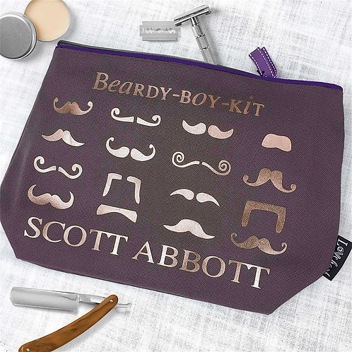 Moustache Large Chocolate Wash/Grooming Bag