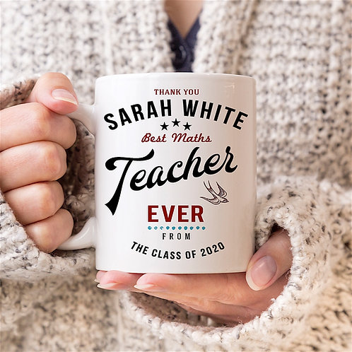 Personalised Vintage Graphic 'Teacher' Mug