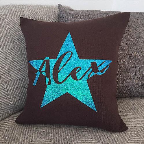 Star Cushion - CHOCOLATE