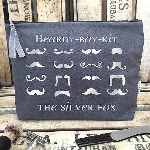Moustache Large Grey Wash/Grooming Bag