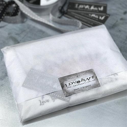 Large Grey Luxury Wash Bag 'Hello' Font