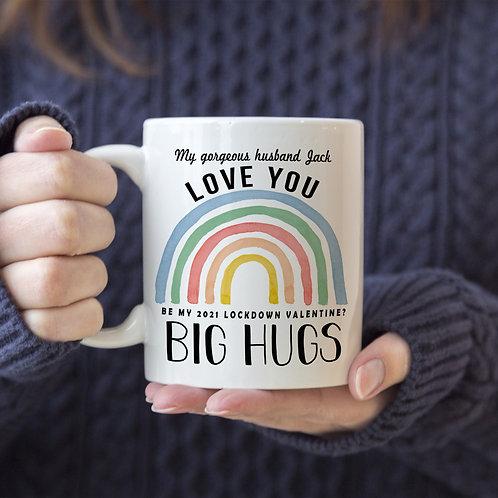 Rainbow 'ADD 4th LINE' Personalised Mug