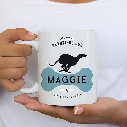 Grey Hound Dog Breed Mug