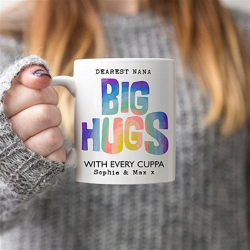 Rainbow 'BIG HUGS' Personalised Mug