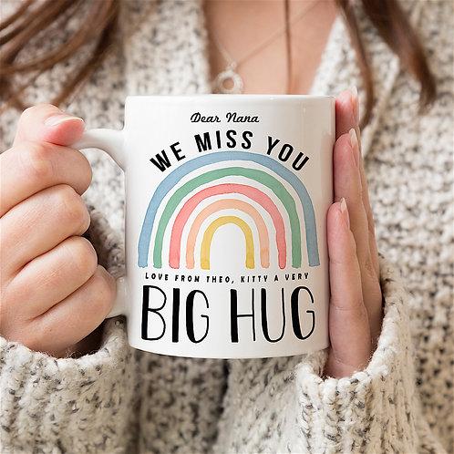 Rainbow 'BIG HUG' Personalised Mug