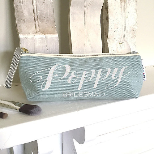 Duck Egg Slim 'Pretty Script' Bag