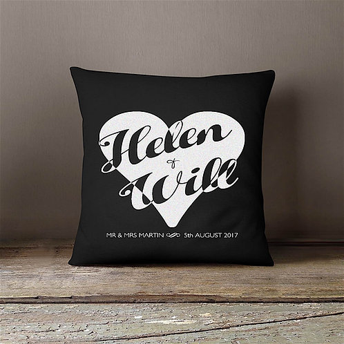 Heart Cushion - BLACK