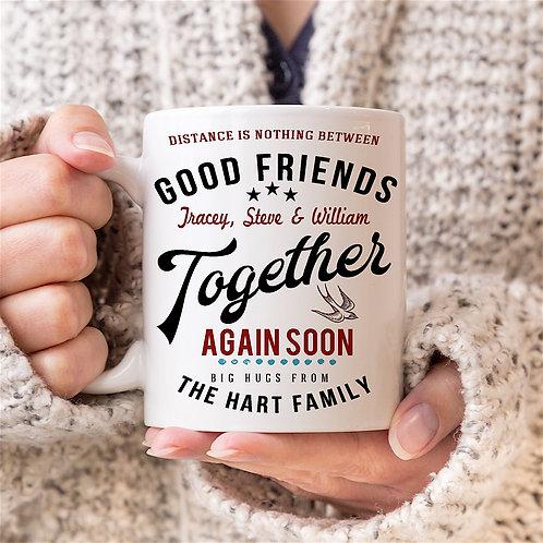 Personalised Vintage Graphic 'Together' Mug