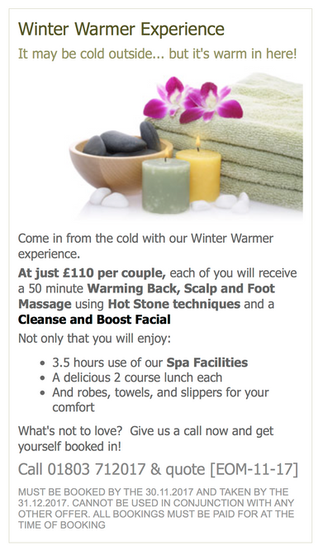 RELAX & UNWIND THIS NOVEMBER