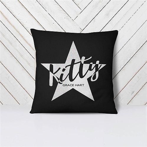 Star Cushion - BLACK