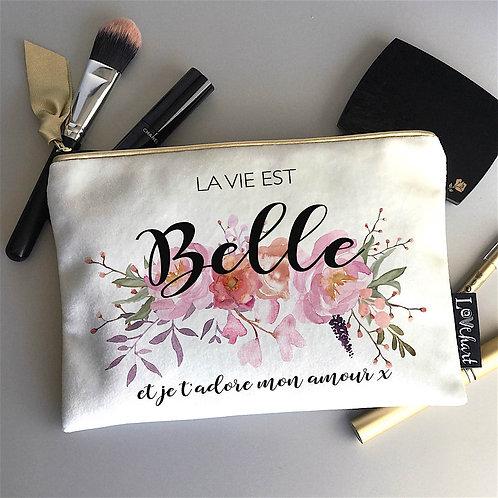 Posey Floral Shimmer Velvet Bag