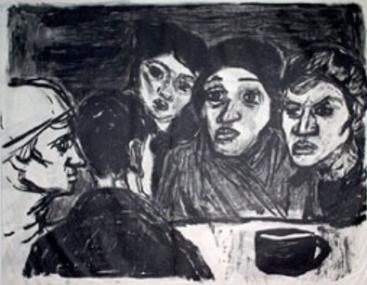 In der Speisehalle II, Lithografie,1930