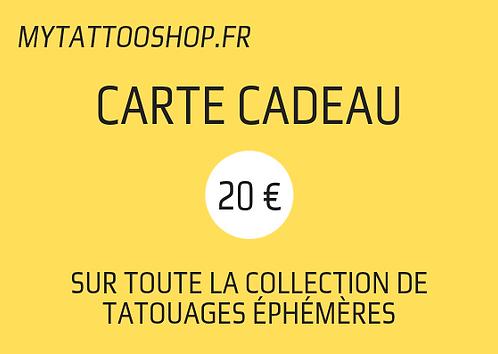 Carte Cadeau - 20 €