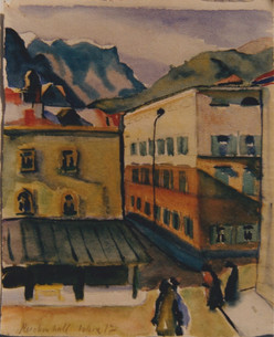 Reichenhall, Ostern, 1917, Aquarell