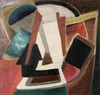 Komposition türkisch, 1948, Öl auf Leinwand