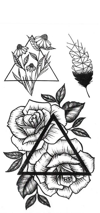 Triangle de fleur