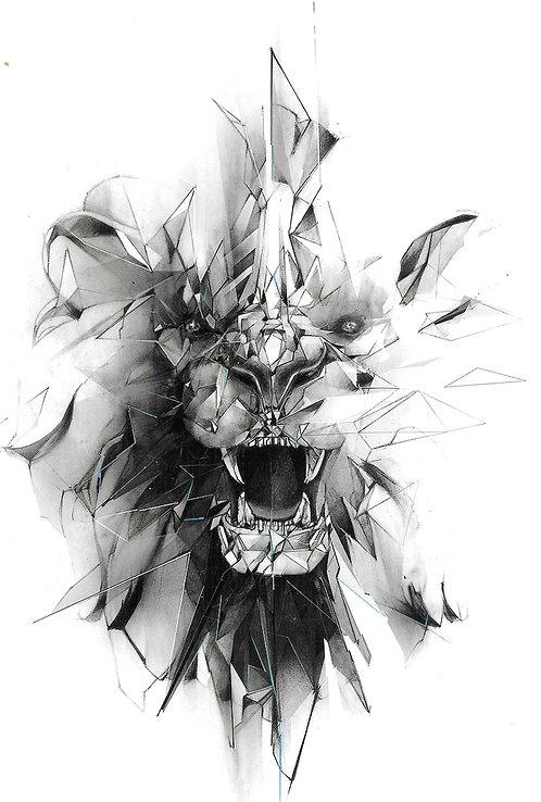 Géometrik Lion