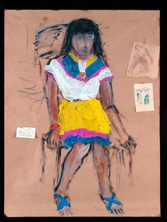 Chilenisches Mädchen, 1983/84, Collage
